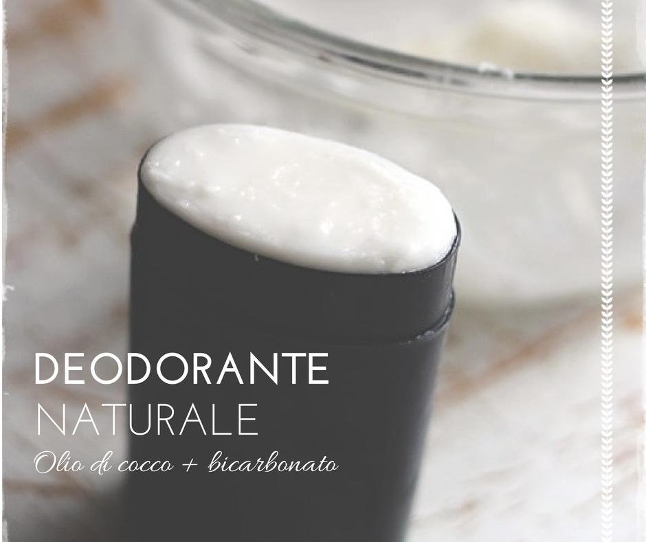 deodorante naturale olio di cocco